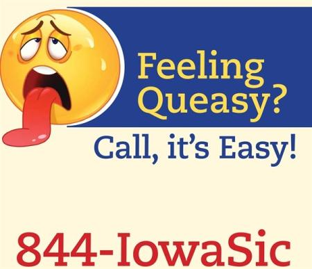 Feeling Queasy Call its Easy 844-IowaSic